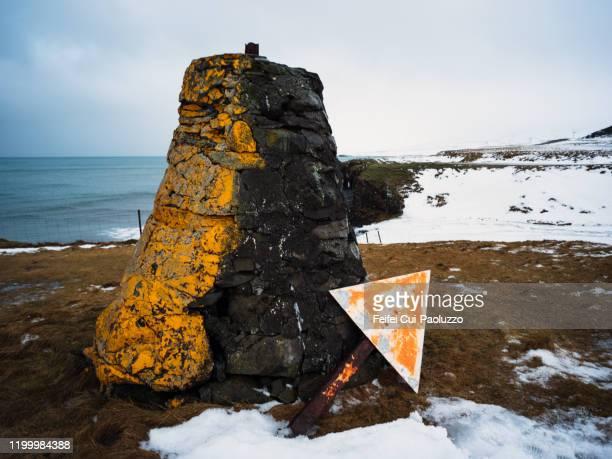 lateral mark at ólafsvík, western region, iceland - vista lateral bildbanksfoton och bilder
