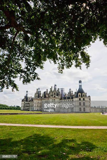 Lateral View Of Chateau De Chambord France