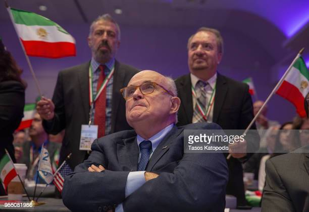 Latest appointee to President Donald Trump's legal team and former Mayor of New York City Rudy Giuliani attends the Conference on Iran on May 5 2018...