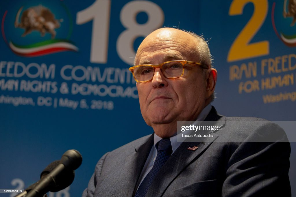 President Trump's Newly Appointed Lawyer Rudy Giuliani Speaks At Conference On Iran