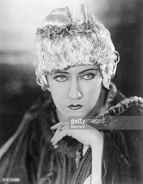 Latest Fashion Hint From Filmdom Here is the very latest idea in boudoir caps as worn by Gloria Swanson It is of radium gray silk threads arranged to...