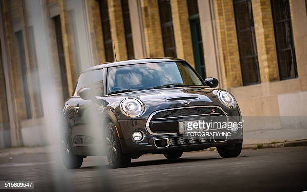 latest generation mini cooper s - mini cooper stock pictures, royalty-free photos & images