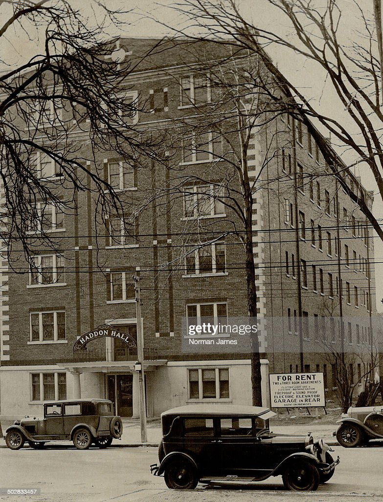 Latest in comfort: A sign outside Haddon Hall at 262 Jarvis St. in ...