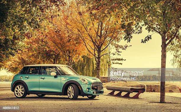latest model mini cooper - vehicle brand names stock photos and pictures
