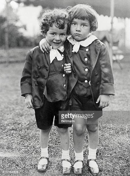 Latest Photo of Chaplin Children Los Angeles California Sidney Chaplin and Charles Spencer Chaplin Jr two sons of Charles Chaplin as they posed in...