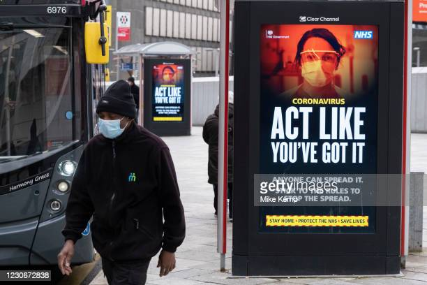 Latest version of the HM Government, and NHS advice boards which are advising people to 'act like you've got it' and that anyone can spread the virus...