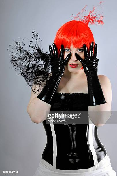 latex explosion - human blood stock pictures, royalty-free photos & images