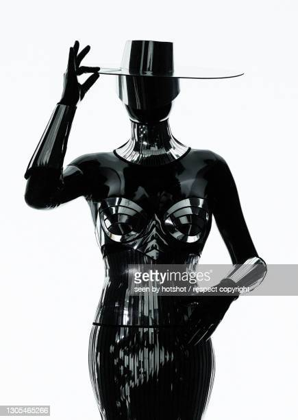 latex lady in black - 1 - bayern stock pictures, royalty-free photos & images