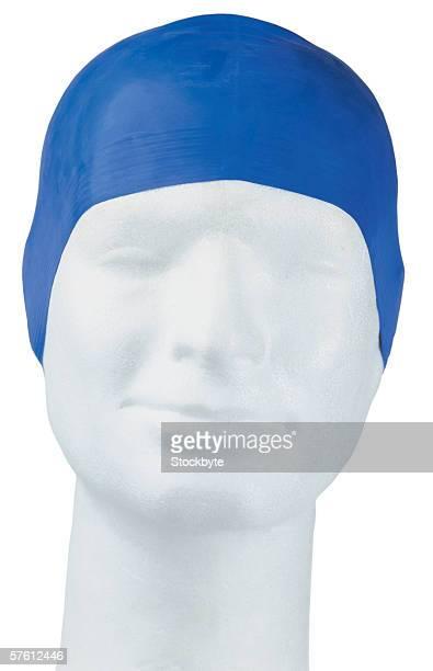 latex swimming bonnet on dummy head