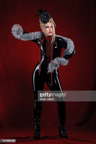 latex woman with ornaments