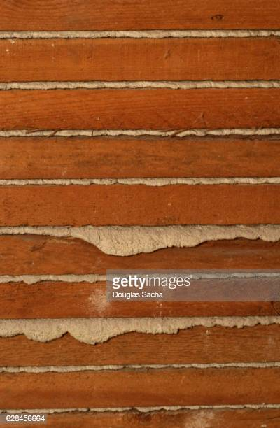 Lath boards and plaster wall construction
