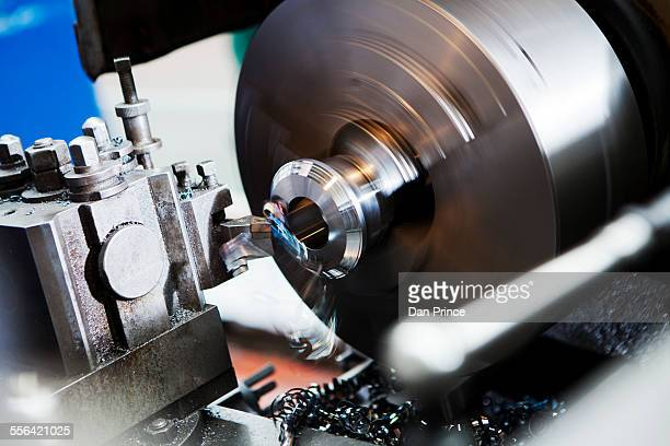 Lathe in motion