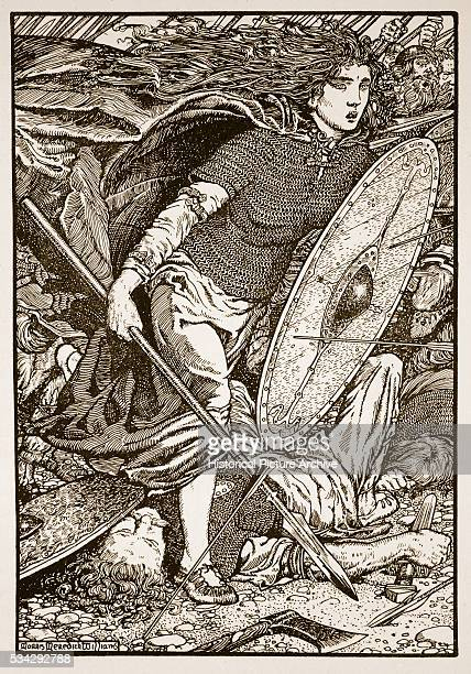 'Lathgertha is a semilegendary Danish Viking and shieldmaiden one time wife of Ragnar Lodbrok Illustration by Morris Meredith Williams from ''The...