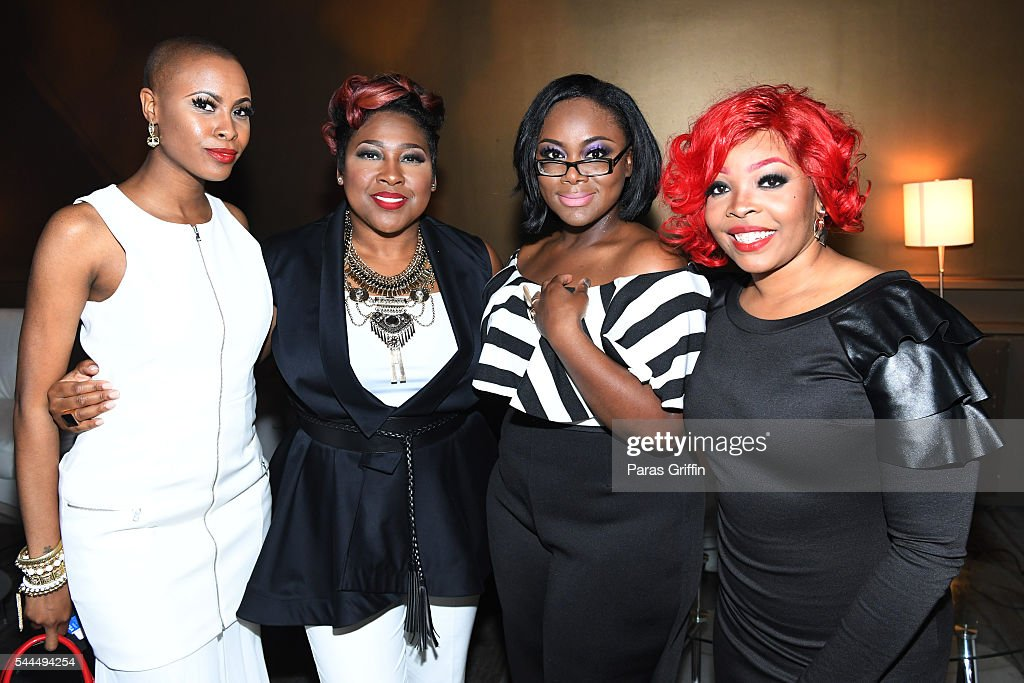Latice Crawford, Candy West, Keyondra Lockett, and Alexis Spight backstage at the 2016 ESSENCE Festival Presented By Coca-Cola at Ernest N. Morial Convention Center on July 3, 2016 in New Orleans, Louisiana.