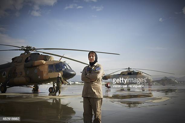 Latifa Nabizada is currently the only female pilot in Afghanistan She flies Russian Mi17 helicopters