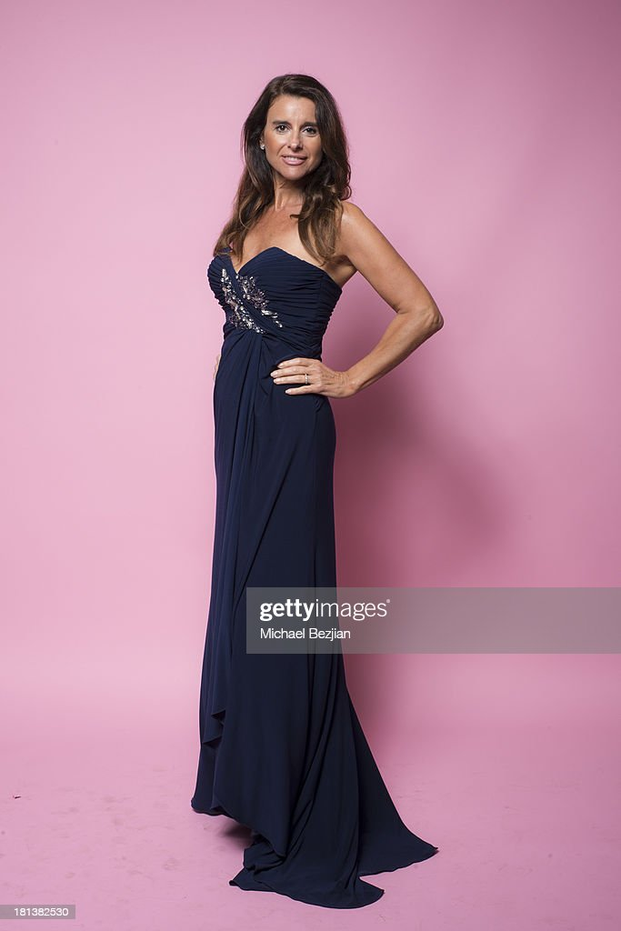 Latin actress Alejandra Moraco models a dress by Gail Garrison at the Mark Kearney Group - 'Iced Out' Luxury Emmy Suite on September 20, 2013 in Los Angeles, California.