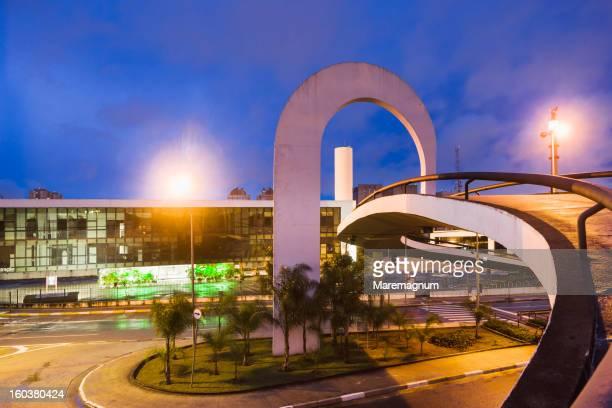 latin america memorial, architect oscar niemayer - américa latina - fotografias e filmes do acervo