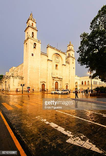 latin american cityscapes - merida mexico stock photos and pictures