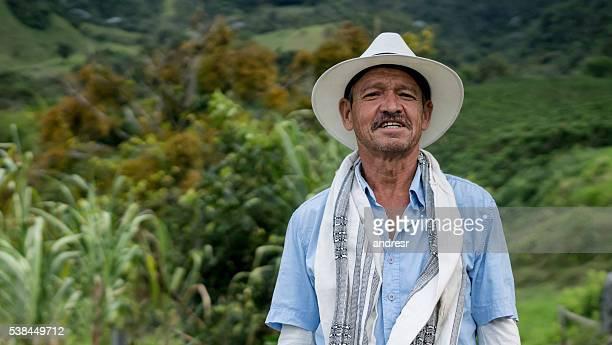 Latin American coffee farmer