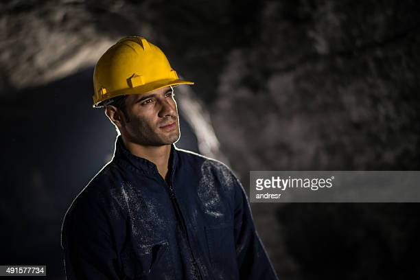 Latin American man working at a mine