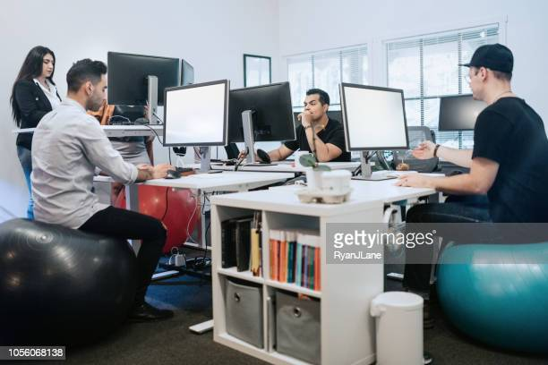 latin american millennial small business - ergonomics stock photos and pictures