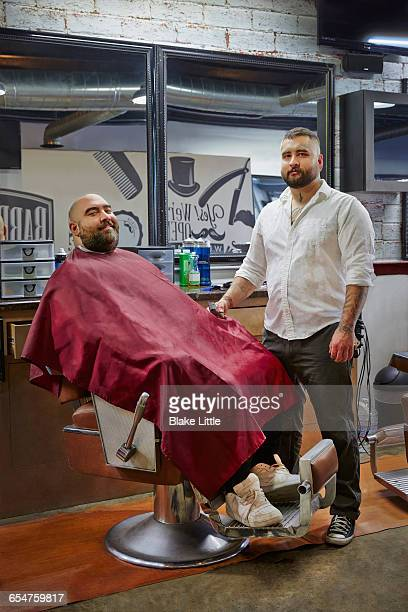 Latin Barber Full Length Portrait