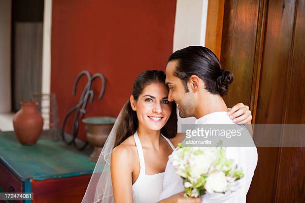 Latin bride and groom