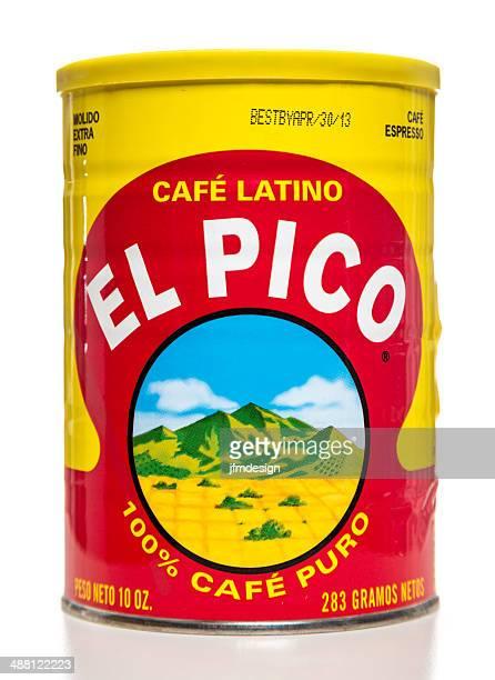 el pico はラテン風コーヒー - キャニスター ストックフォトと画像