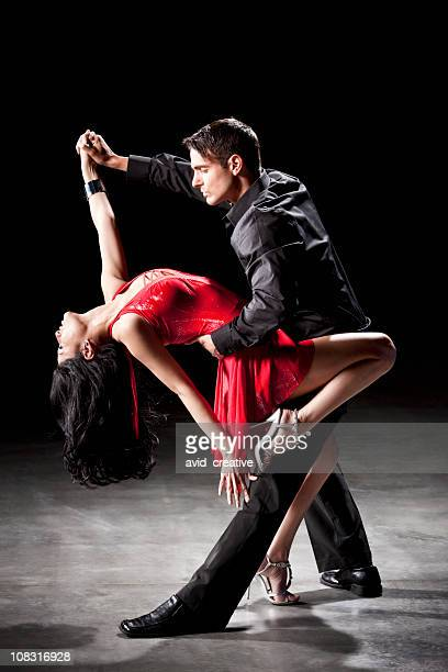 latin dance: tango dip - music style stock pictures, royalty-free photos & images