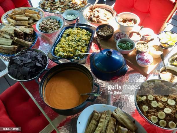 latin food fiesta - ポットラック ストックフォトと画像