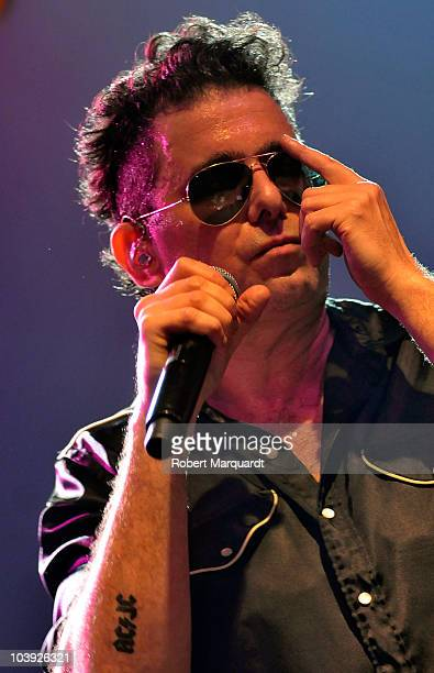 Latin Grammy winner Andres Calamaro and his band perform at the Razzmatazz on September 8 2010 in Barcelona Spain