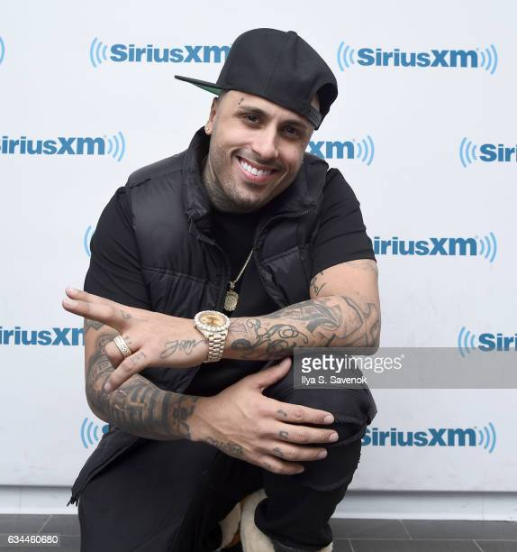 Latin Hip Hop Artist Nicky Jam visits The SiriusXM Studios For 'SiriusXM's Town Hall With Nicky Jam' On February 9 2017 In New York City