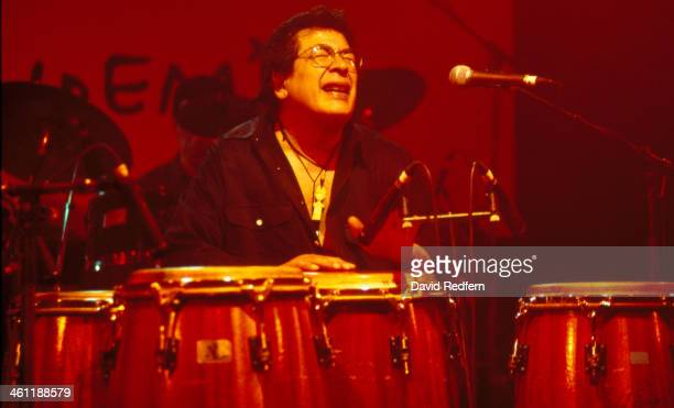 Latin jazz musician Ray Barretto on stage at the Midem Music Conference Cannes France 1996