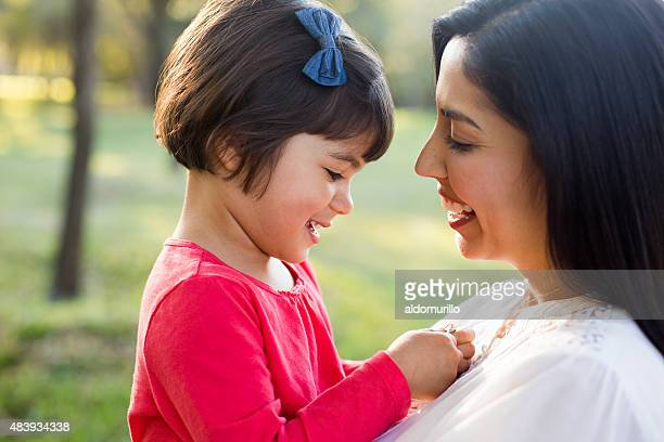 Latin mother and daughter
