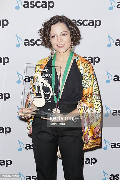 Latin Music Award winner Natalia Lafourcade arrives at the 2016 ASCAP Latin Music Awards on May 11 2016 in Miami Florida
