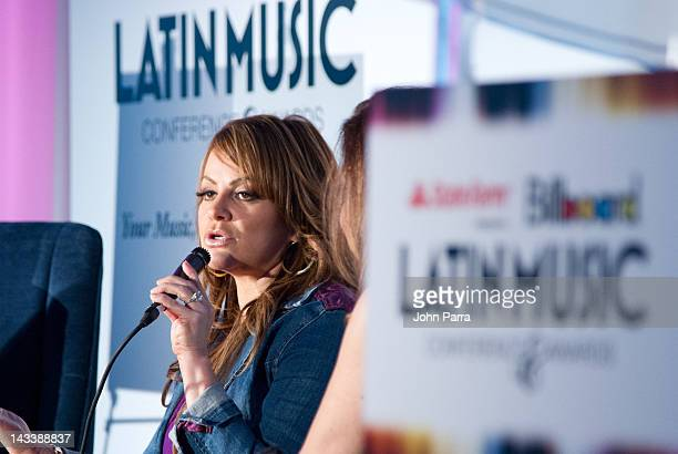 Latin musician Jenni Rivera attends Billboard Latin Music Conference 2012 at JW Marriott Marquis on April 25 2012 in Miami Florida