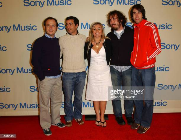 Latin pop band La Oreja de Van Gogh arrive at the Sony Music Entertainment PostGrammy Party at Maple Drive Restaurant on February 8 2004 in Beverly...