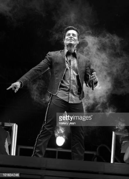 Latin pop singer Chayanne performs at American Airlines Arena on June 4, 2010 in Miami, Florida.