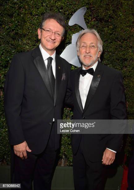 Latin Recording Academy President/CEO Gabriel Abaroa and Recording Academy President Neil Portnow attend The 18th Annual Latin Grammy Awards at MGM...