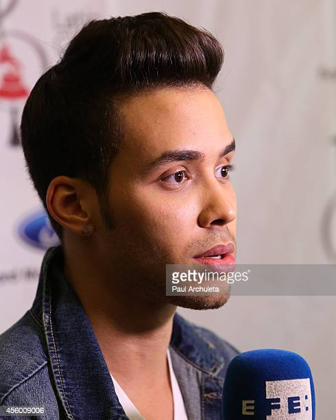 Latin Recording Artist Prince Royce attends the Latin GRAMMY Cultural Foundation presention of a Latin GRAMMY In Schools at Los Angeles High School...