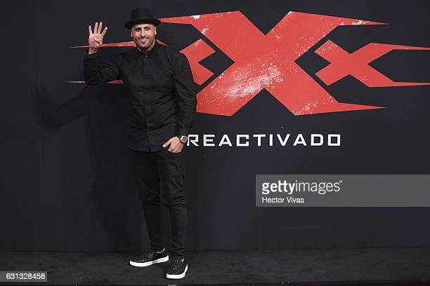 Latin Reggaeton Artist Nicky Jam poses during the xXx Return of Xander Cage premiere and red carpet at Auditorio Nacional on January 05 2017 in...