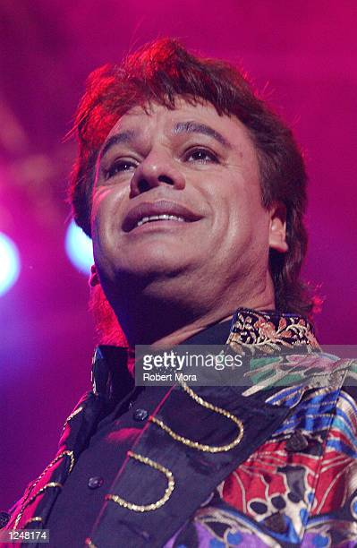 Latin singer Juan Gabriel performs at Veranazo El Concierto 2002 at Dodger Statium on August 3 2002 in Los Angeles California
