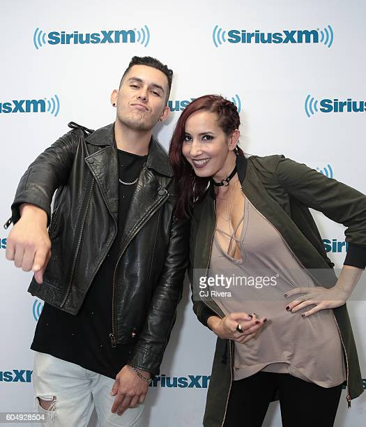 Latin urban duo Domino Saints visits the SiriusXM Studios on September 13 2016 in New York City