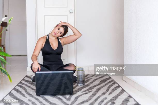 25yearold middleaged latin woman dressed sportily