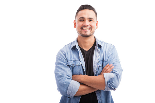 Latin young man in a studio 494711330