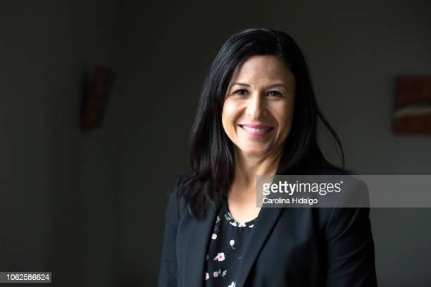 Latina Hispanic woman at work in office