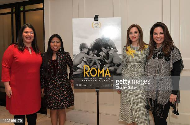 Latina leader and Director of Gender and Justice campaigns for NDWA, Monica Ramirez, Yalitza Aparicio, Marina De Tavira and Founder of The Adelante...