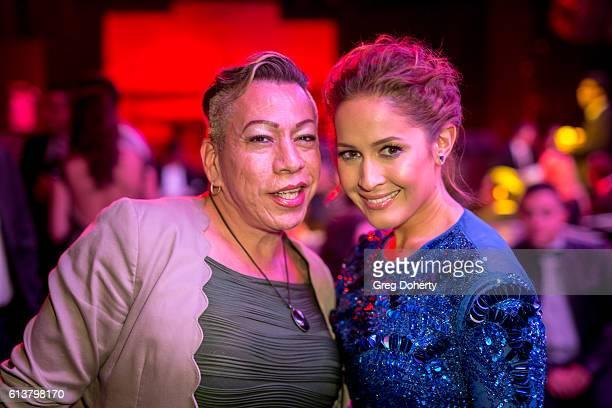 Latina Transgender Activist Bambi Salcedo and Actress Jaina Lee Ortiz attend the 2016 Latino's De Hoy Awards Reception at the OHM Nightclub on...