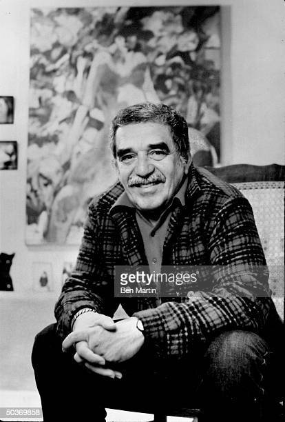 LatinAmerican author of novels and short stories Gabriel Garcia Marquez