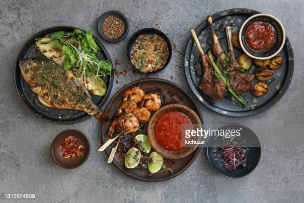 latino food - sauce stock pictures, royalty-free photos & images